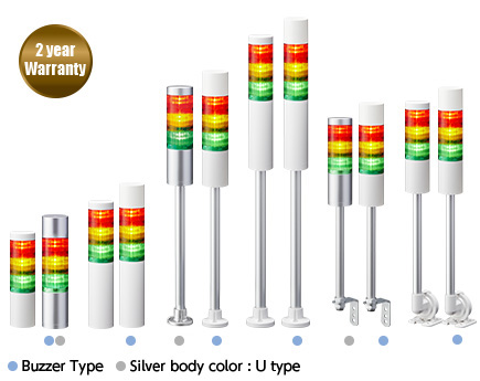 60mm led signal tower lights